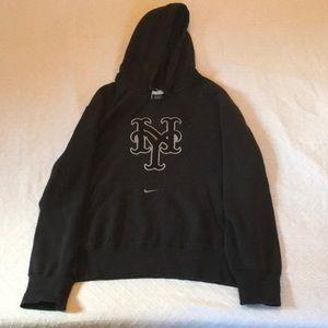 Black/Silver Nike New York Mets Hoodie, size Large